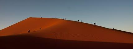 捉住从沙丘的日落 免版税库存照片