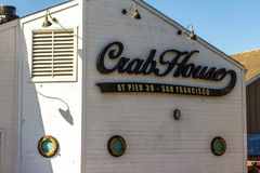 捉蟹码头的39,旧金山议院餐馆 图库摄影