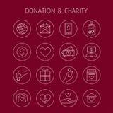 捐赠和慈善传染媒介线性象 皇族释放例证