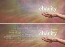 捐赠对慈善竞选横幅 免版税库存图片
