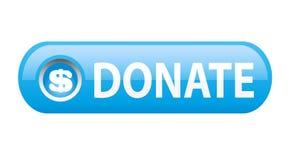捐赠按钮 免版税图库摄影