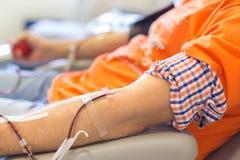 捐赠的献血者 库存图片
