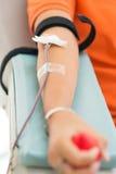 捐赠血液在医房 免版税库存图片