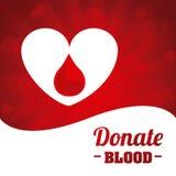 捐赠血液设计 皇族释放例证