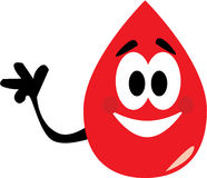 捐赠血液这里 免版税库存图片