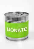 捐赠词 免版税库存图片