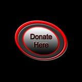 捐赠这里按钮 图库摄影