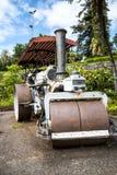 捕野禽者蒸汽路辗在圣卡塔琳娜州公园丰沙尔马德拉岛 库存照片