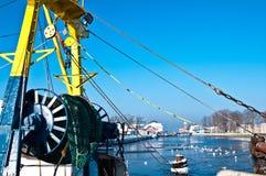 捕鱼业在冬天  库存图片