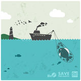 捕鱼业 免版税库存照片