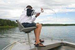 捕鱼体育运动 免版税图库摄影