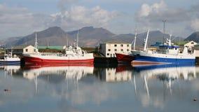 捕鱼冰岛端口 免版税库存照片