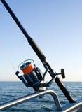 捕鱼卷轴标尺海运 库存照片