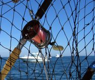 捕鱼卷轴 免版税图库摄影