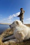 捕鱼宠物 免版税库存图片