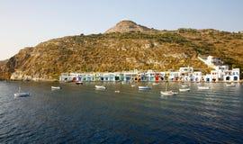 捕鱼希腊传统村庄 免版税图库摄影