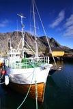 捕鱼挪威船 库存图片