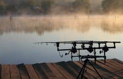 捕鱼早晨 免版税库存照片