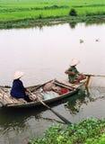 捕鱼样式越南 免版税库存图片