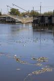 捕鱼河 库存图片