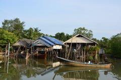 捕鱼泰国村庄 库存图片