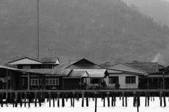 捕鱼泰国村庄 图库摄影