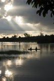 捕鱼泰国 库存照片