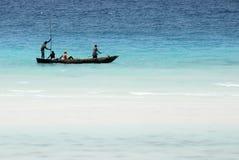 捕鱼海岛桑给巴尔 库存照片