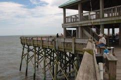 捕鱼海洋码头 库存照片