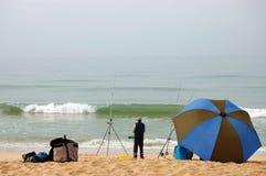 捕鱼海洋葡萄牙 免版税库存照片