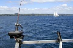 捕鱼湖新的taupo西兰 库存照片