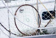 捕鱼网干燥 免版税库存照片