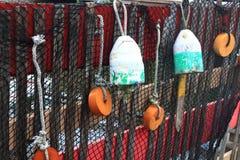 捕鱼网浮体 库存照片