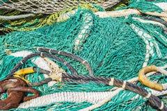 捕鱼网背景 库存图片