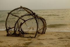 捕鱼网 免版税库存图片