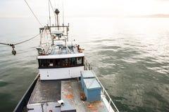 捕鱼船桥梁高观点  库存图片