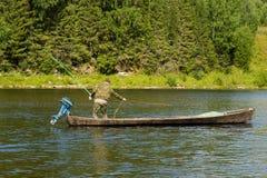 捕鱼 库存图片