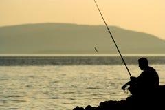 捕鱼 免版税库存照片