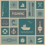 捕鱼 向量例证