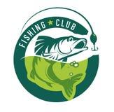 捕鱼 Fishin俱乐部商标 免版税图库摄影