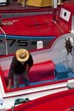 捕鲸小船 图库摄影