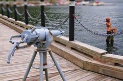 捕鲸炮和美人鱼 免版税库存图片