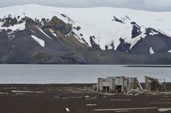 捕鲸船`海湾,南极洲 库存图片