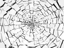 损伤和击毁:抽象打破的玻璃样式 免版税库存图片