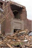 损坏的基本joplin mo学校龙卷风 免版税库存图片
