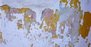 损坏的墙壁油漆纹理背景 免版税图库摄影