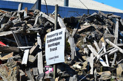 损坏的大厦在克赖斯特切奇新西兰 库存图片