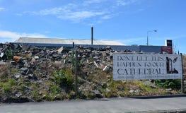损坏的大厦在克赖斯特切奇新西兰 库存照片