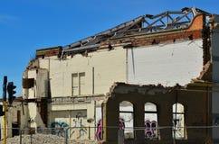 损坏的大厦在克赖斯特切奇新西兰 免版税库存图片