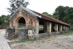 损坏的大厦在越南 库存图片
